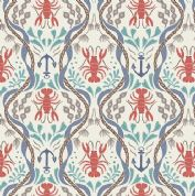 Lewis & Irene Harbour Side - 4942 - Lobsters & Anchors on Cream  - A179.1 - Cotton Fabric